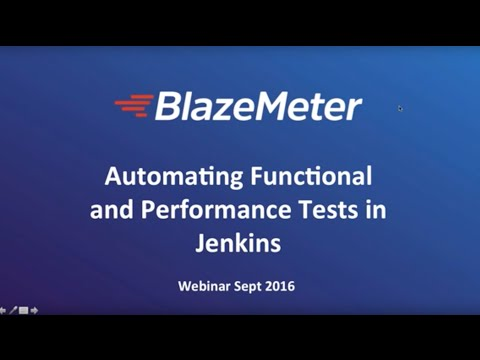 Automating Functional and Performance Tests in Jenkins CI Environments Related YouTube Video