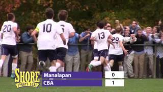 Shore Conference Boys Soccer Quarters   CBA 1 Manalapan 0