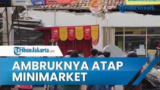 Seorang Pedagang Terluka Akibat Ambruknya Minimarket