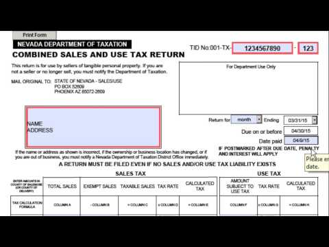 State of nevada tax forms 2007 - Fill Out and Sign Printable PDF