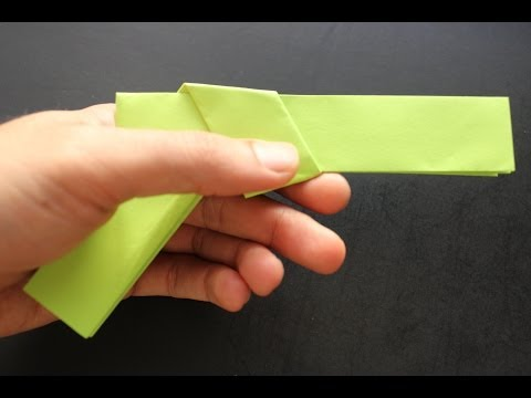 How to make a paper gun origami: instruction| Colt