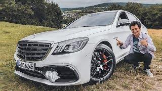 Новый Mercedes S-Class! Первый тест на S 63 - 612 сил, 3.5 с до 100 км/ч + 0-260!) AMG-обзор : )
