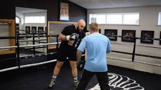 BOOM! HEAVYWEIGHT NATHAN GORMAN HAMMERS THE PADS WITH RICKY HATTON AHEAD OF DEC 22nd FIGHT