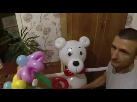 Мишка из воздушных шаров/ Bear balloon