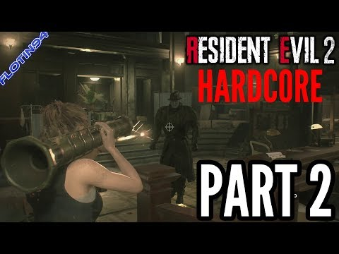 MR X VS BAZUKA | Resident Evil 2: HARDCORE #2 - Claire A (60FPS)