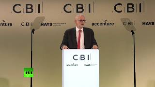 LIVE: Jeremy Corbyn gives speech at CBI conference