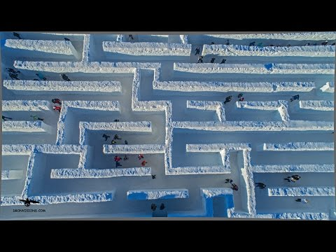 Snowlandia: The Biggest Snow Maze in the World