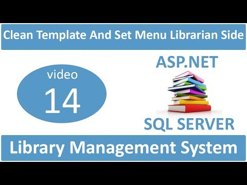 how to clean template and set menu librarian side