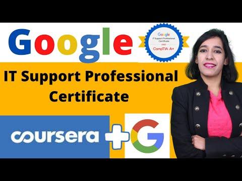 Google IT Support Professional Certificate program | Coursera ...