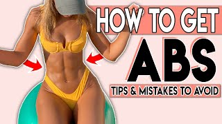 HOW TO GET ABS 😍 Simple tricks & mistakes to avoid