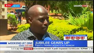 Jubilee inducts agents ahead of October 26th fresh polls
