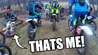 I GOT RAN OVER! | First RACE EVER!