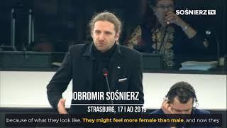 Trolling feministek przez Dobromira Sośnierza.