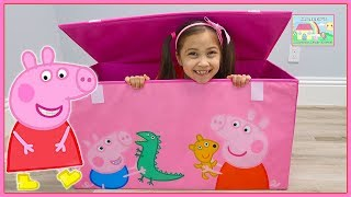Huge Peppa Pig Toys Box with Surprise Eggs and Toy Surprises Inside