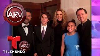 Lucero y sus hijos celebran la carrera de Manuel Mijares   Al Rojo Vivo   Telemundo