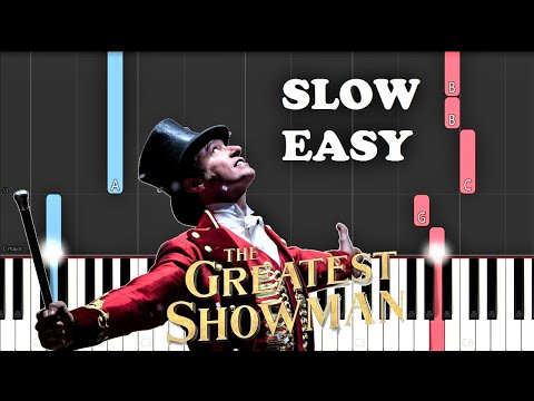 The Greatest Showman - A Million Dreams (SLOW EASY PIANO TUTORIAL)
