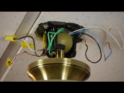 How to Install a Ceiling Fan on a Prewired Ceiling Fan Outlet : Ceiling Fans