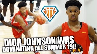 DIOR 'MOST HATED' JOHNSON WAS DOMINATING ALL SUMMER19!! | Full Nike EYBL Highlights