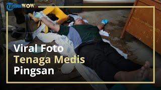Viral Foto Petugas Medis Terkapar, sang Anak Sebut Kelelahan Antarjemput Pasien