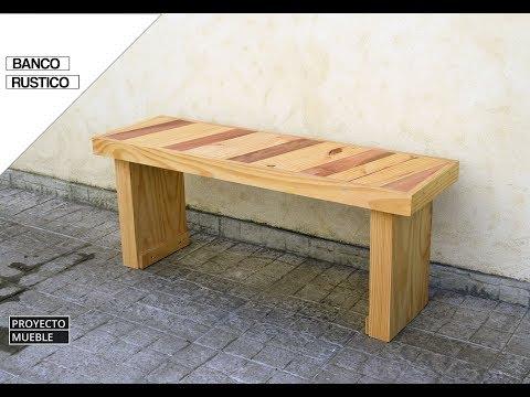Banco Rustico con Madera Reciclada (Rustic Bench)