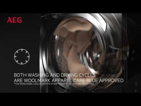 AEG Freestanding Washer Dryer L9WEC169R - White Video 2