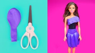 DIY Barbie Dresses with Balloons 👗 Making Easy No Sew Clothes for Barbies & Dolls Creative for Kids
