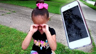 Imani Cracked Her Ipod Touch Screen!!!