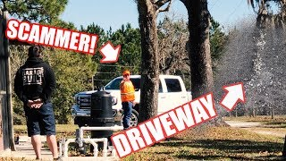 """LEFTOVER ASPHALT"" SCAM! SCAMMERS CAUGHT ON CAMERA!! They SCREWED US!"