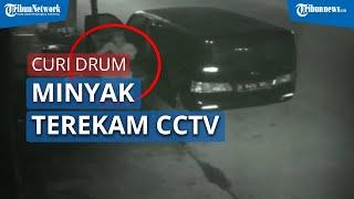 Viral Video Pencurian Drum Minyak Curah di Pasar Terekam CCTV, Begini Penjelasan Polisi