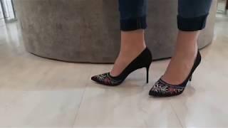 Vídeo Scarpin em Nobuck Bordado Tabita