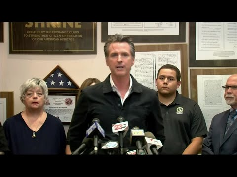 "California's governor says President Trump committed to help. Speaking to reporters after touring the damage zone, Gavin Newsom said California must ""be prepared for the next earthquake of magnitude even greater than 7.1."" (July 6)"