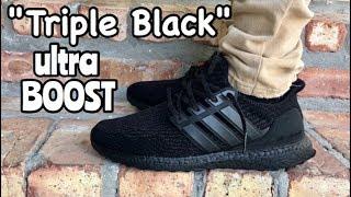 d3ead1c74 ... closeout adidas ultra boost 3.0 triple black on feet 69511 0fea9