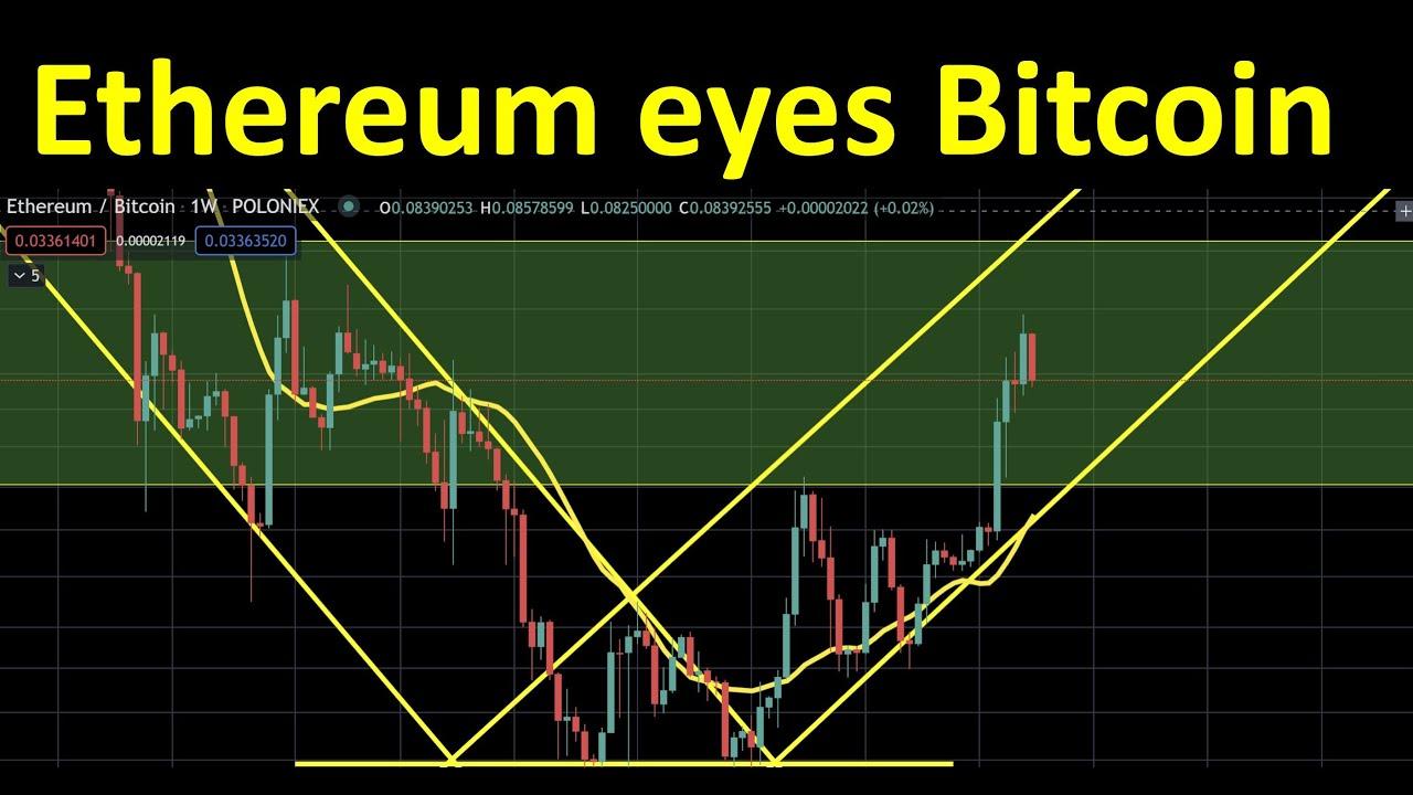 Ethereum keeps an eye on Bitcoin