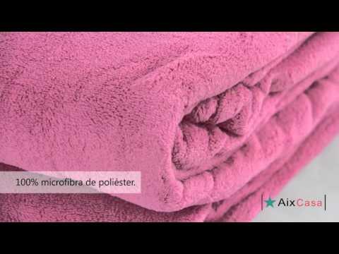 Manta Microfibra Flamingo Camesa - Aix Casa