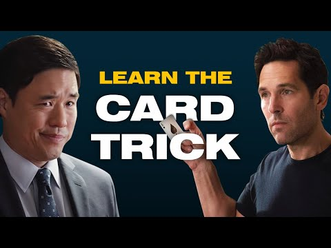 Ant-Man & Jimmy Woo Card Trick Taught by a REAL MAGICIAN
