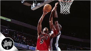 Is Michael Jordan's 2-handed block the best of all time? l Make or Miss | The Jump