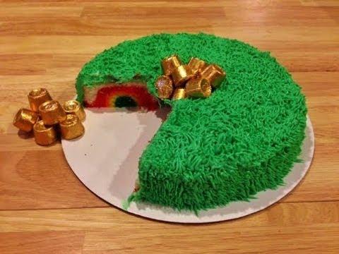 Hidden Rainbow Cake – St. Patrick's Day