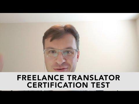 Article: Freelance Translator Certification Test - YouTube