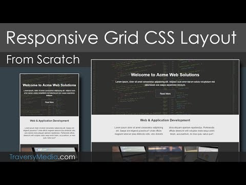 "Grid CSS Responsive Website Layout – ""Mobile First"" Design"