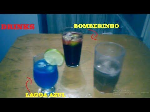 COMO FAZER DRINKS SEM ÁLCOOL (Lagoa azul e Bomberinho) | Preto na Cozinha/para o dia das crianças