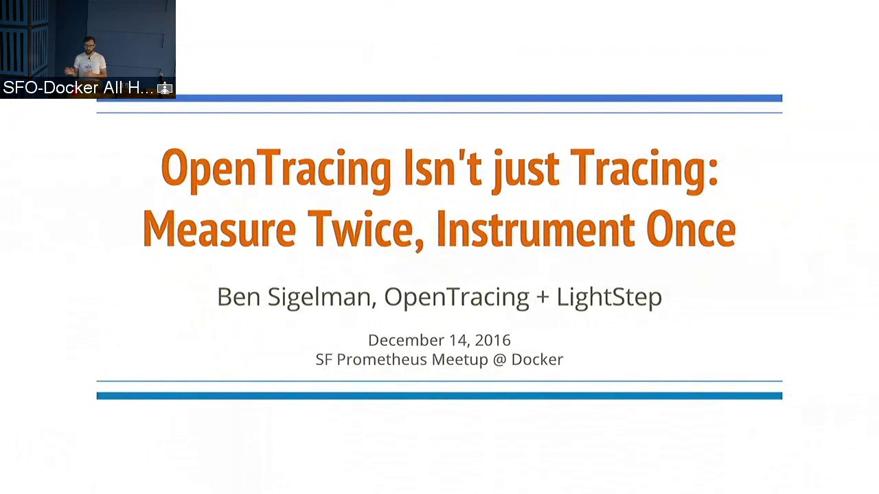 OpenTracing Isn't Just Tracing