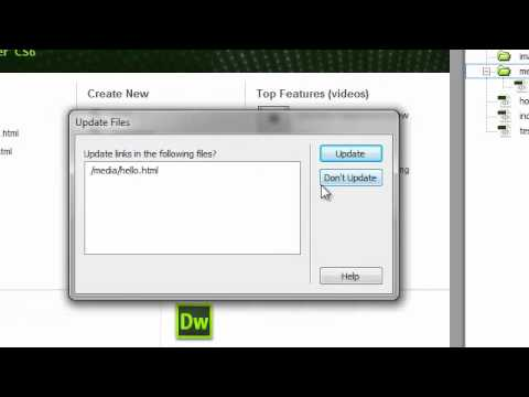 How to manage files using Dreamweaver
