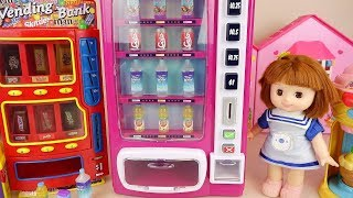 Baby Doll Drinks and candy vending machine play baby Doli house