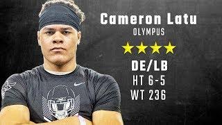 Cameron Latu highlights   Alabama 4-star signee from Olympus