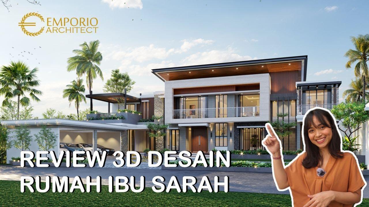 Video 3D Desain Rumah Modern 2 Lantai Ibu Sarah di Rangkasbitung, Banten