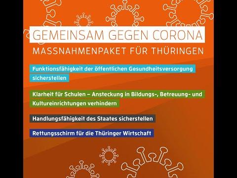 Gemeinsam gegen Corona – Maßnahmenpaket für Thüringen