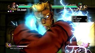 JoJo's All Star Battle: Old Joseph Move Set - HD