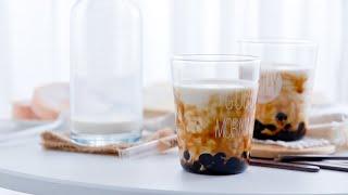 Dark brown sugar pearl milk