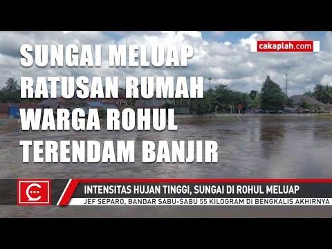 Ratusan Rumah dan Desa di Rohul Direndam Banjir