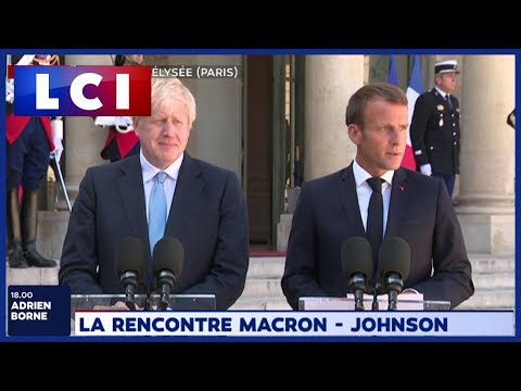La rencontre Johnson - Macron La rencontre Johnson - Macron